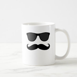 Black Moustache and Sunglasses Humour Gift Coffee Mugs