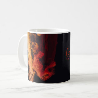 Black Mug Fiery Smoke Good Morning Mug