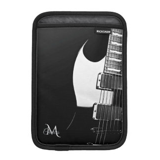 Black Music Electric Guitar iPad Mini Sleeve