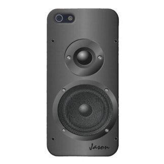 Black Music Sound Speaker iPhone 5 Case