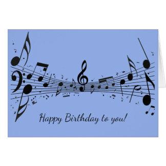 Black Musical Notes Design Greeting Card