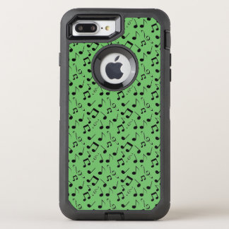 Black Musical Notes Design Otter Box OtterBox Defender iPhone 8 Plus/7 Plus Case