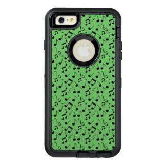 Black Musical Notes Design Otter Box OtterBox Defender iPhone Case