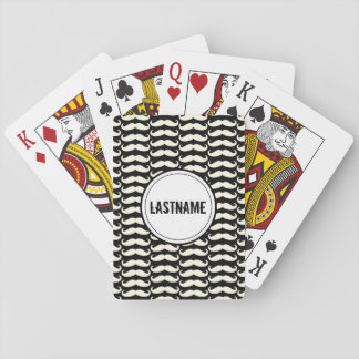 Black Mustache Playing Cards