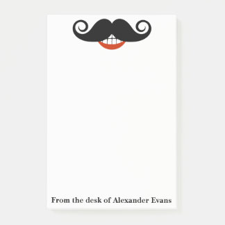 Black Mustache Post-it Notes