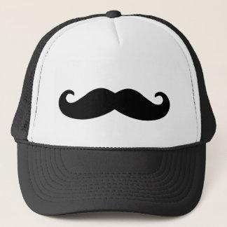 Black Mustache Print Trucker Hat