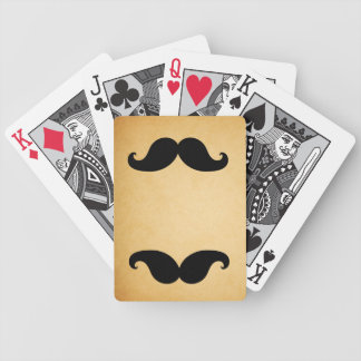 Black Mustache Printed Vintage Paper Playing Cards