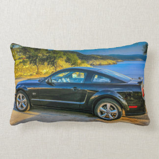 Black Mustang GT Throw Pillow