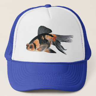 Black n Orange Goldfish Trucker Hat