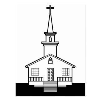 Black-n-White Church Postcard