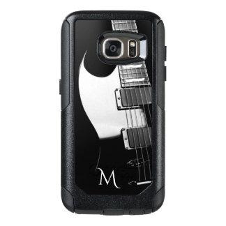 Black n White Electric Guitar Otterbox Galaxy Case