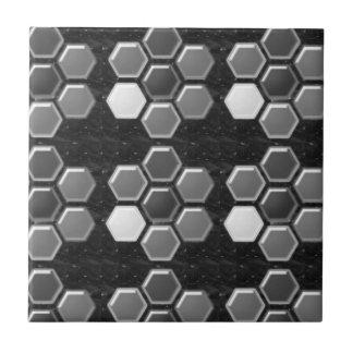 Black n White : Elegant Buttons Tiles