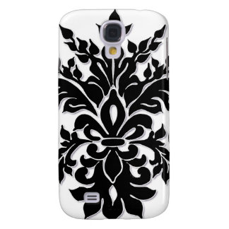Black n White Fleur de Lys Iphone 3 case