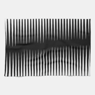 Black-n-White Frequency Kitchen Towel