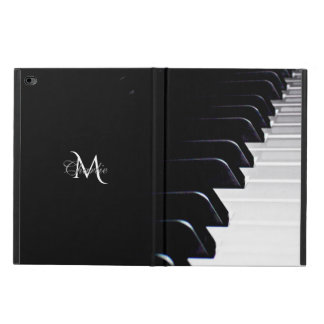 Black 'n White Piano Keys Monogram iPad Air 2 Case
