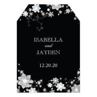 Black n White Winter Bling Wedding Invitation