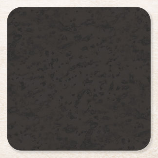 Black Natural Cork Bark Look Wood Grain Square Paper Coaster