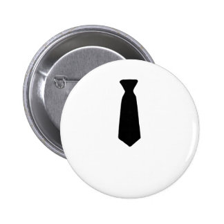 Black Necktie 2 Inch Round Button