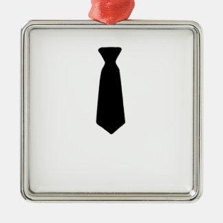 Black Necktie Metal Ornament