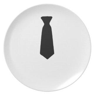 Black Necktie Plate