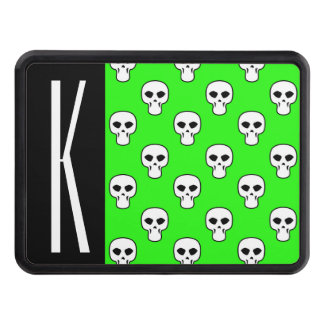 Black & Neon Green Skulls Pattern Tow Hitch Covers