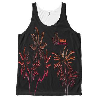 Black Neon Palm Trees Destination Customize Ibiza