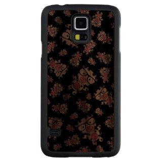 Black nerd cow pattern carved® walnut galaxy s5 case