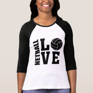Black Netball Love, Netball T-Shirt