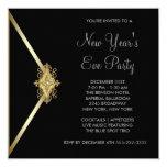 Black New Years Eve Party Custom Invitations