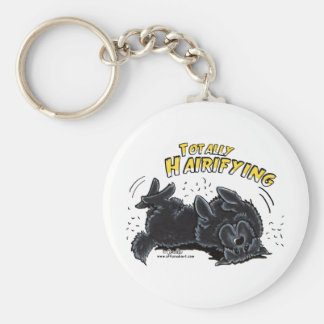 Black Newfie Totally Hairifying Keychain