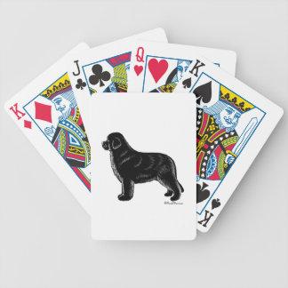 BLACK NEWFOUNDLAND BICYCLE PLAYING CARDS