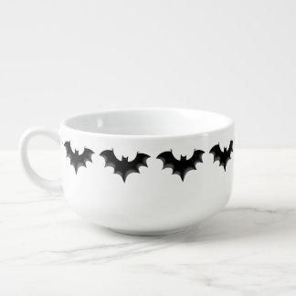 black night bat soup mug