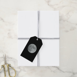Black Night Full Moon Lunar Space Winter Ball Pack Of Gift Tags