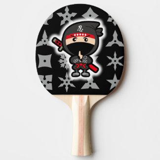 Black Ninja Boy Ping Pong Paddle
