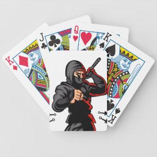 black ninja cartoon. bicycle playing cards
