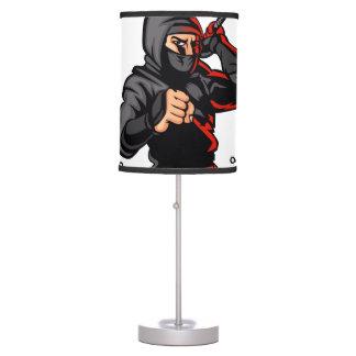 black ninja cartoon. desk lamp