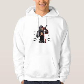 black ninja cartoon. hoodie