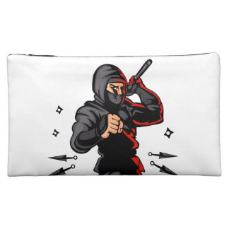 black ninja cartoon. makeup bag