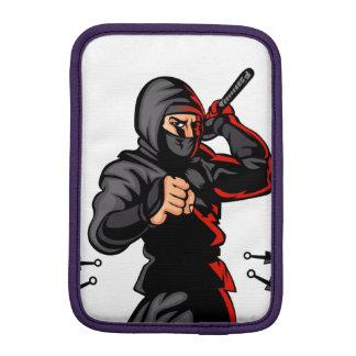 black ninja cartoon. sleeve for iPad mini