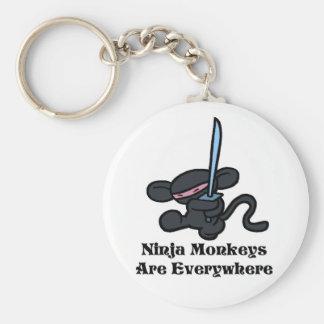 Black Ninja Kick Keychain