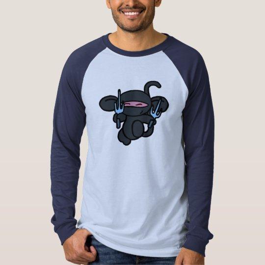 Black Ninja with Sai-No Words T-Shirt