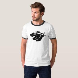 Black NinjaBear Logo on ringer shirt
