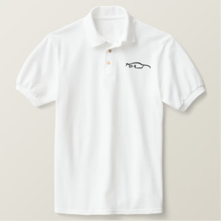 Black Nissan Skyline GT-R Embroidered Polo Shirt