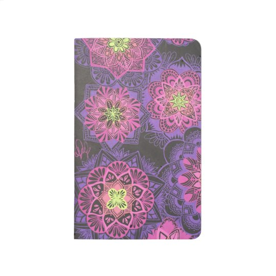 Black notebook w/ mandala