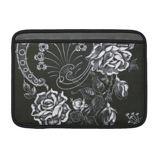 Black Nouveau Floral...ipad sleeve