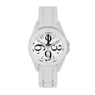 Black Number Watch