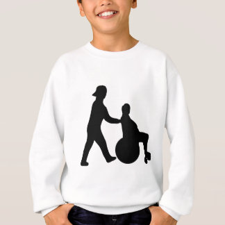 black nurse icon sweatshirt