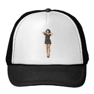 Black nurse trucker hat