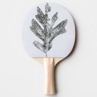 """Black oak leaf nature print botanical nature. Ping Pong Paddle"