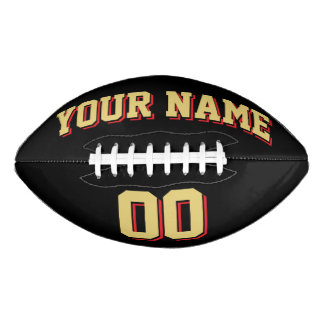 BLACK OLD GOLD AND RED Custom Football